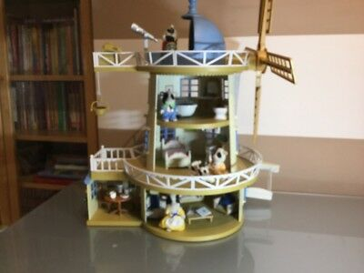 Sylvanian Families Field View Windmill Fully Furnished & Figures