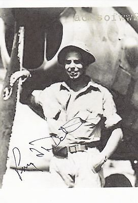 Colonel Perry Dahl, Ww2 P-38 Air Ace With 9 Kills, Nice Signed Image By P-38