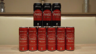 Coca-cola cans from Serbia,Holiday set! Empty