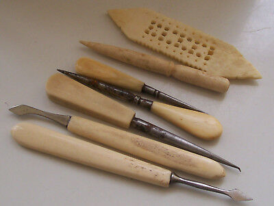 Nice Collection of 7 Vintage/ Antique Sewing & Manicure Items
