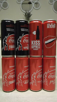 Coca-cola cans Swiss!Limited edition. Empty