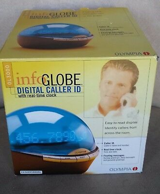 NEW Olympia OL 3000 Infoglobe Digital Caller ID with Real-Time Clock