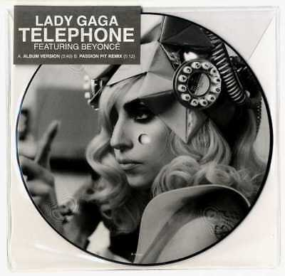 "Lady Gaga / Beyonce - Telephone 7""  Picture Disc Vinyl Pic New Stickered Sleeve"