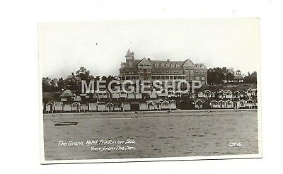 Essex : Frinton On Sea The Grand Hotel From The Sea 1939 Real Photo Postcard