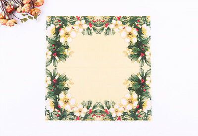 Chinese Style Flower Series Paper Napkin 20 Pcs Of Each Pack 33X33CM Pattern 18
