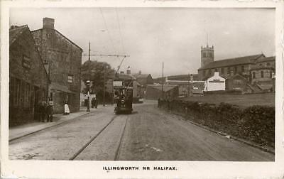 Real Photographic Postcard Of Illingworth, Near Halifax, West Yorkshire