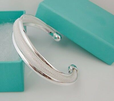 Free Shipping New Fashion Xmas Gift Jewelry Solid 925Silver Bangle Present