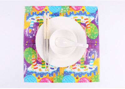 Birthday Series 20 Pcs Of Each Pack Party Paper Napkin 33X33CM 2 Ply Pattern 9