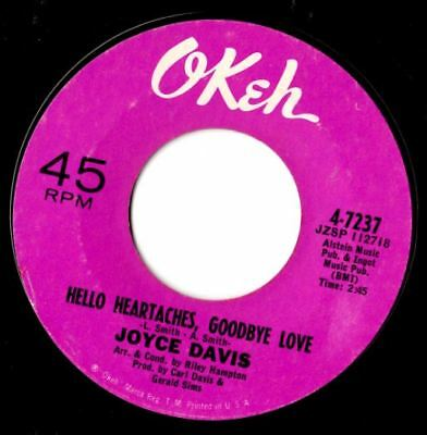 Soul northern soul popcorn Joyce Davis Hello heartache goodbye love MINT-