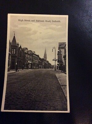 Milton Postcard High Street And Eskbank Road  Dalkeith