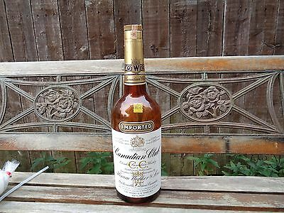 canadian club large 19 inch display bottle 1961