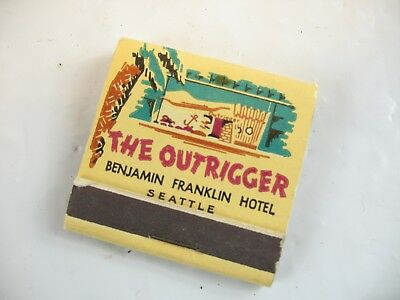 The Outrigger Benjamin Franklin Hotel Seattle match book