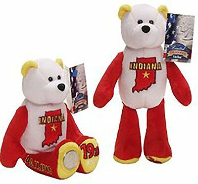 24 Limited Treasures State Quarter Plush Bear Indiana #19 Collictible Souvenir