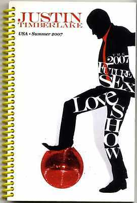Justin Timberlake  Future Sex Love Show 2007 Tour Crew Only Itinerary Book Nsync