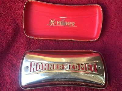 "Pre War~M.hohner~Made In Germany~""hohner Comet""~C & G Key~Original W/case"