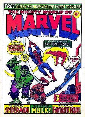 MIGHTY WORLD OF MARVEL (uk) FIRST 81  ISSUES DVD ROM