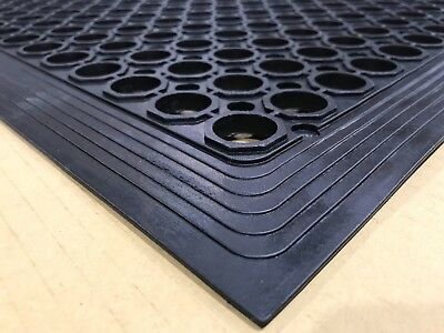 Anti Fatigue Anti Slip Floor Door Rubber Safety Mat 1500x900x12mm FREE FREIGHT