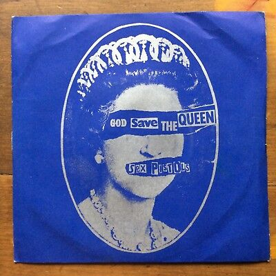 "SEX PISTOLS - God Save The Queen - 1st Press UK 1977 7"" Single Silver Labels"