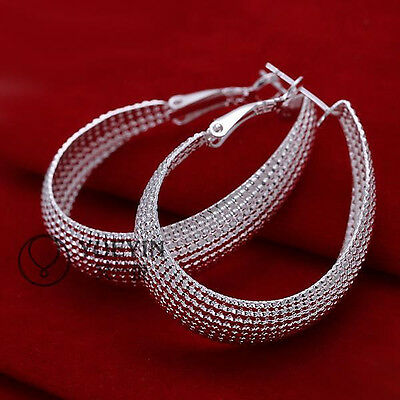 New Womens Ladys Fashion Jewelry Solid 925silver Earrings