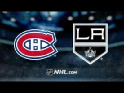 Montreal Canadiens Vs Kings Los Angeles White 325 Row Dd 26 October