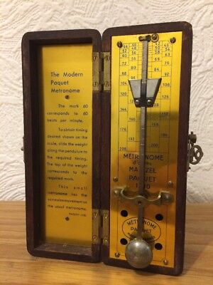 Antique Metronome by PAQUET made in France