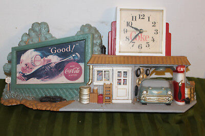 Vintage Coke Clock / Coca-Cola Clock / Coke Sign / Gas Pump / Station