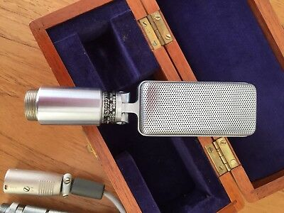 Vintage Reslo Microphone In Box With Wire
