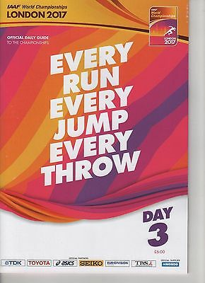 IAAF World Championships LONDON 2017 Athletics Day 3 Programme
