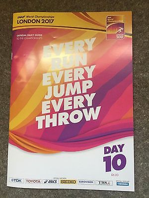 Day 10: 2017 IAAF World Athletics London Championships Programme: Closing Ceremo