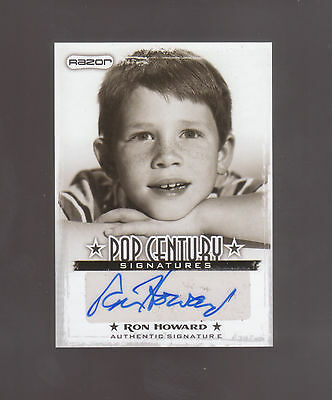 Ron Howard AUTO 2010 Razor POP CENTURY SIGNATURES Andy Griffith Show Happy Days
