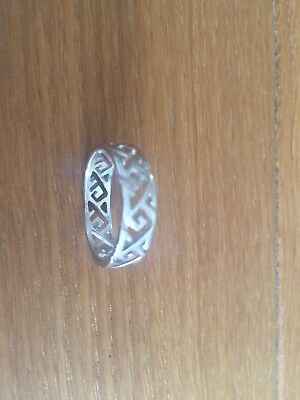 Ortak Sterling Silver Celtic ring - Size T