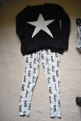 Next girls leggings and jumper - age 15 years