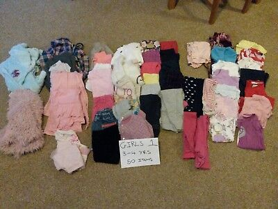 Girls Clothes 3-4 Years 50 Items