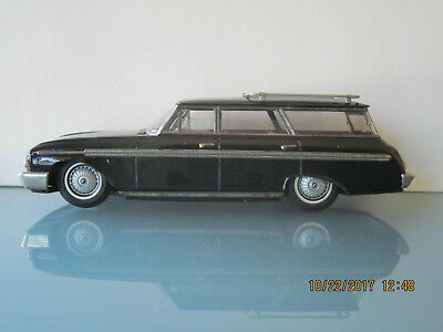 "Atc Asahi 1962 Ford Ranch Wagon 12"" Friction Japan Tin Toy Car All Original Nr"