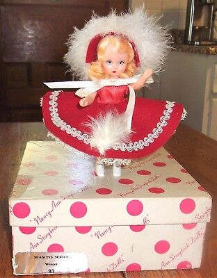 """#93 """"Winter"""" Plastic Nancy Ann Storybook Doll/Box/Beautiful! Excellent! Look!"""