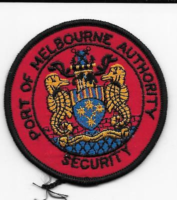 OLD STYLE OBSOLETE PORT of MELBOURNE AUSTRALIA AUTHORITY SECURITY POLICE PATCH