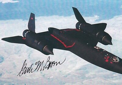 Blackbird Commander, Survived High Speed Stall, Signed Image Of Sr-71