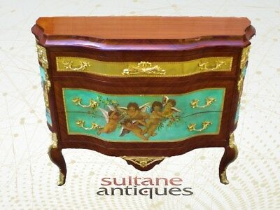 Quality Commode with hand-painted scenery and couple
