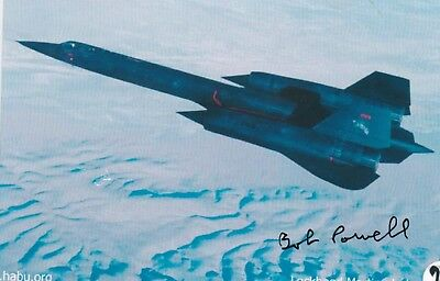 Sr-71 Pilot With 1,020 Flight Hours In Blackbird, Signed Aircraft Image