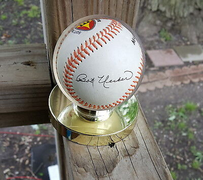 Bob Uecker Autographed Baseball & Holder Hooters Make A Wish Foundation Brewers