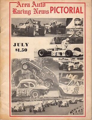 July 1974 Area Auto Racing News Pictorial