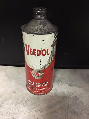 Flying A - Veedol - Outboard Cone Oil Can
