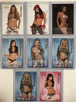 2003 2005 2006 Benchwarmer 8 Card Autograph Lot