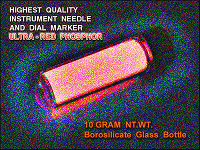 ULTRA-RED Phosphor 2 x 5g in Borosilicate Vial - Long Glowing/UV Sensitive