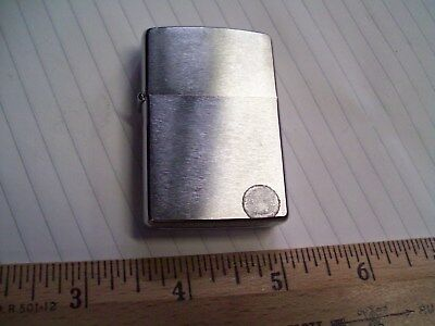 vintage Zippo 1977 cigarette lighter brushed chrome unfired new old plain pocket