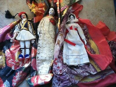 Lot of 3 Haunted Dolls paranormal scary spooky possessed Halloween Witch Owned