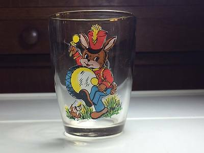Vintage Hugo the drumming rabbit drinking glass