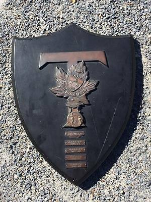 1940's Award of Merit from the University of Toronto bronze wall plaque