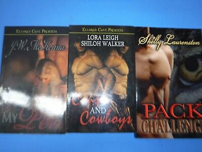 Lot Of 3 Erotic Novels From Ellora's Cave By Assorted Authors
