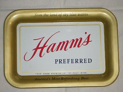 "Hamm's Beer tip tray 1950's Hamm's Preferred ""America's most refreshing beer"""
